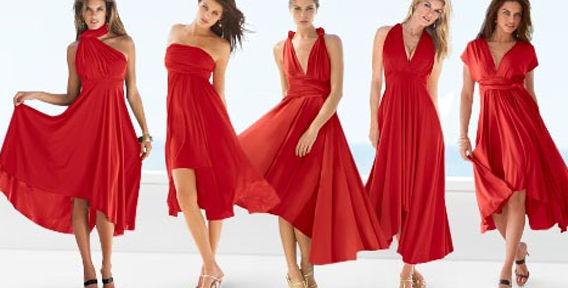 Красное платье своими руками фото
