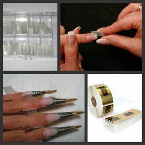 Коллаж фотографий по наращиванию ногтей