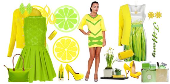С чем сочетать салатовый цвет в одежде