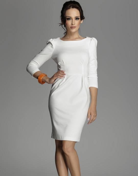 Белое платье футляр с чем носить