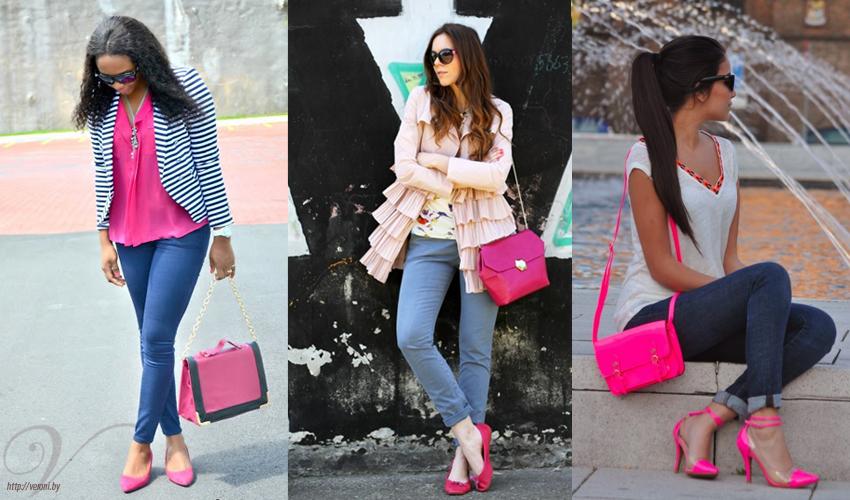 С чем носить розовую блузку