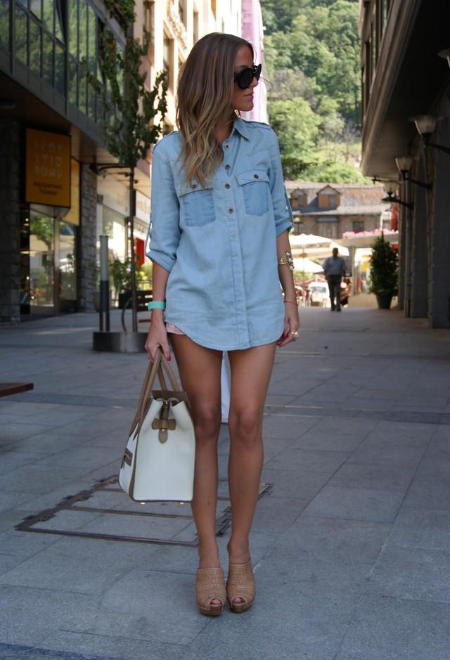 Платье рубашка с чем носить