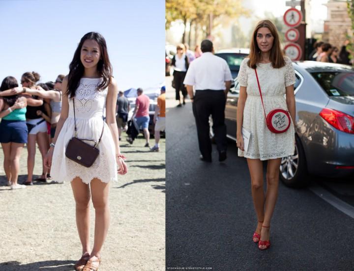 С чем носить белый сарафан?