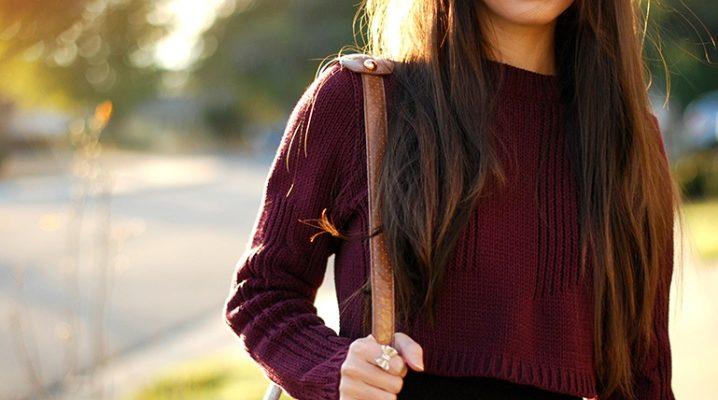 Девушка на фоне осеннего парка