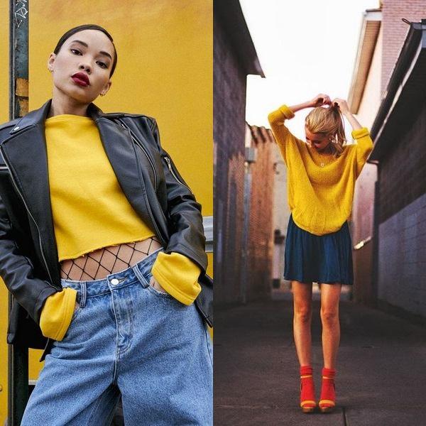 Образы с желтым свитером