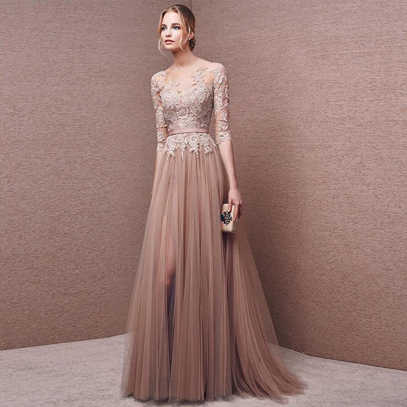 Платье цвета кофе