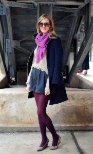 Фиолетовые колготки Street Style.